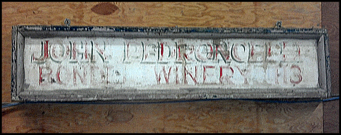 Winery Sign 1930s-1970s