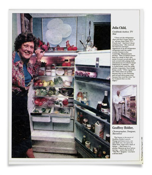 Julia Child with Pedroncelli Wine in her Fridge