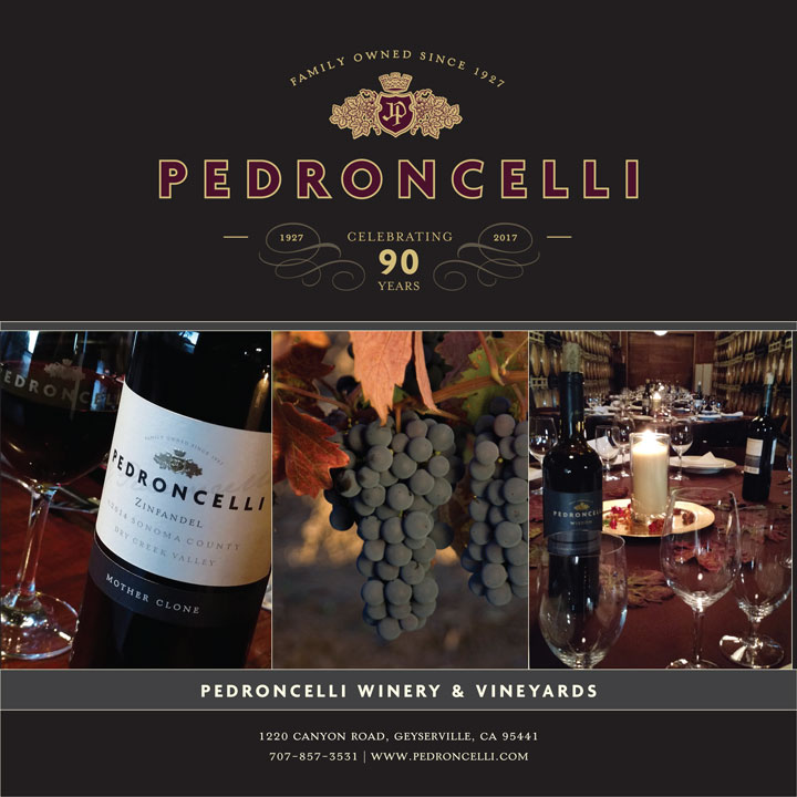 Pedroncelli Winery & Vineyard Top Brochure